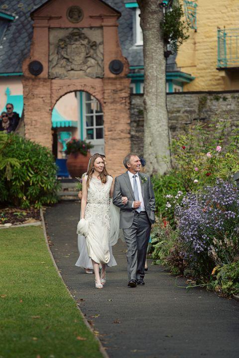Andrew and Hannah Portmeirion Wedding Photography-5